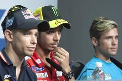 Casey Stoner, Valentino Rossi, Alvaro Bautista