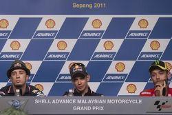 Andrea Dovizioso, Casey Stoner, Valentino Rossi