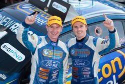 Race winners Mark Winterbottom and Richard Lyons