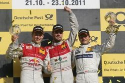 Podium Championship, 2nd Mattias Ekström, Audi Sport Team Abt, Audi A4 DTM, 1st Martin Tomczyk, Audi Sport Team Phoenix, Audi A4 DTM, 3rd Bruno Spengler, Team HWA AMG Mercedes, AMG Mercedes C-Klasse