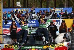 Juho Hanninen and Mikko Markula, Skoda Fabia S2000, Skoda Red Bull Rally Team