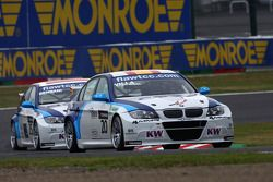Mehdi Bennani, BMW 320 TC, Proteam Racing and Javier Villa, BMW 320 TC, Proteam Racing