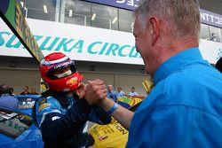 Alain Menu, Chevrolet Cruze 1.6T, Chevrolet race winner and Eric Neve, Chevrolet Europe Motorsport M