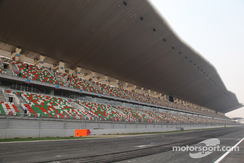 The start finish straight and main grandstand
