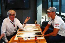 Bernie Ecclestone y Michael Schumacher, Mercedes GP Petronas