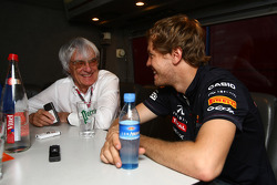 Bernie Ecclestone and Sebastian Vettel, Red Bull Racing interview