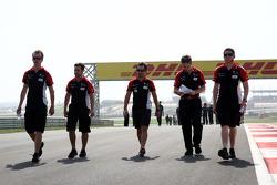Timo Glock, Marussia Virgin Racing walks track