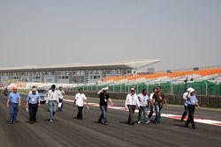 Herbie Blash, FIA Observer, Charlie Whiting, FIA Safety delegate, Race director & offical starter wa