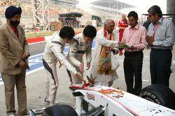Sergio Perez, Sauber F1 Team en Kamui Kobayashi, Sauber F1 Team