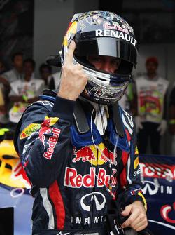 pole man Sebastian Vettel, Red Bull Racing with Lewis Hamilton, McLaren Mercedes