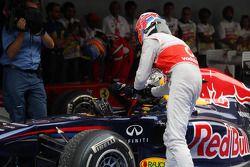 Jenson Button (McLaren) et Sebastian Vettel (Red Bull)