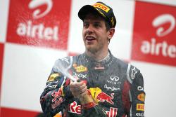 Podium: Sebastian Vettel, Red Bull Racing