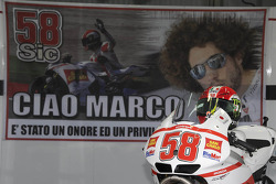 Le stand du team Gresini rend hommage à Marco Simoncelli