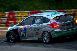 #127 Sponsorcard: MSC Adenau e.V. Ford Focus: Stephan Wölflick, Urs Bressan, Jürgen Gagstatter, Carsten Föse