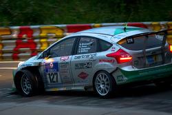 #127 Sponsorcard: MSC Adenau e.V. Ford Focus: Stephan Wölflick, Urs Bressan, Jürgen Gagstatter, Cars