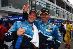 Second place Robert Huff, Chevrolet Cruze 1.6T, Chevrolet, winner Alain Menu, Chevrolet Cruze 1.6T,
