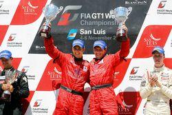 Podium: winnaars Francesco Pastorelli en Yelmer Buurman