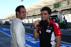 Vitantonio Liuzzi, HRT F1 Team ve Jerome d'Ambrosio, Marussia Virgin Racing