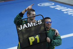 Lotus ART celebrate James Calado's win
