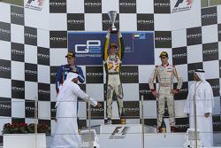 Podium: race winner James Calado, second place Marcus Ericsson, third place Tom Dillmann