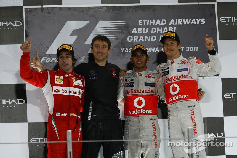 2011: 1. Lewis Hamilton, 2. Fernando Alonso, 3. Jenson Button