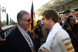Piero Ferrari with Sebastian Vettel, Red Bull Racing