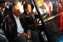King Juan Carlos I of Spain with Gerhard Berger
