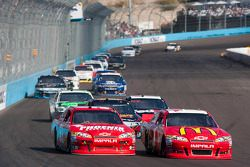 Landon Cassill and Juan Pablo Montoya, Earnhardt Ganassi Racing Chevrolet