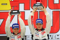Podium: winnaars Sébastien Bourdais, Anthony Davidson