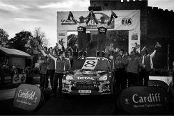 Себастьен Лёб и Даниэль Элена, Citroën DS3 WRC, Citroën Total World Rally Team празднуют восьмой тит