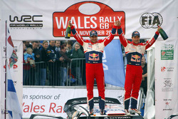 Sébastien Loeb y Daniel Elena, Citroën DS3 WRC, Citroën Total World Rally Team celebran 8 Campeonatos del WRC