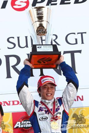 GT500 race 2 winner Takuya Izawa