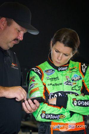 Danica Patrick, JR Motorsport Chevrolet with crew chief Tony Eury Jr.