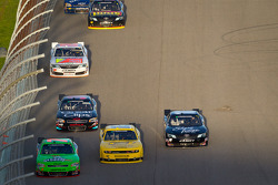 Danica Patrick, JR Motorsport Chevrolet, Sam Hornish Jr., Penske Racing Dodge and Brian Scott, Joe Gibbs Racing Toyota