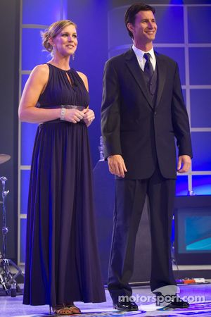 De hosts van het 2012 Nationwide en Camping World Truck Series Awards Banquet