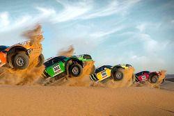 X-Raid Rally Team met hun nieuwe MINI All4
