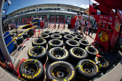 Tires ready for the race
