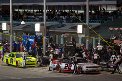 Pit stop for Brad Keselowski, Penske Racing Dodge and Tim Andrews