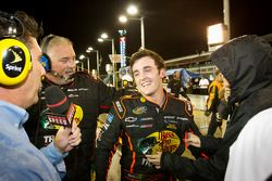 NASCAR Camping World Truck Series 2011 champion Austin Dillon, RCR Chevrolet celebrates at the moment the race is declared over