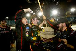 NASCAR Camping World Truck Series 2011 champion Austin Dillon, RCR Chevrolet celebrates at the momen
