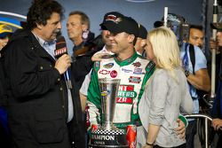 Championship podium: NASCAR Camping World Truck Series 2011 owner champions Kevin Harvick, Kevin Har