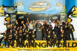 Championship podium: NASCAR Camping World Truck Series 2011 champion Austin Dillon, RCR Chevrolet ce