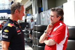 Red Bull Racing Team Manager Jonathan Wheatley met Pat Fry Technical director Ferrari