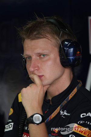 Tommi Parmakoski, trainer Sebastian Vettel, Red Bull Racing