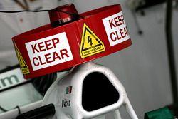 Знак KERS на Sauber F1 Team