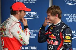Дженсон Баттон, McLaren Mercedes и Себастьян Феттель, Red Bull Racing