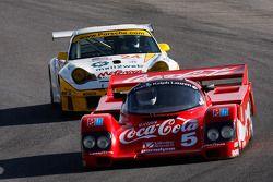 Lee Giannone 1985 Bob Akin Racing Porsche 962 en Jeff Lewis '04 GT3 RSR