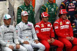 Nico Rosberg, Mercedes GP Petronas F1 Team met Michael Schumacher, Mercedes GP Petronas F1 Team, Fel