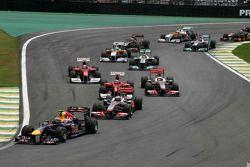 Start van de race, Mark Webber, Red Bull Racing