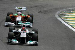 Михаэль Шумахер, Mercedes GP и Адриан Сутиль, Force India